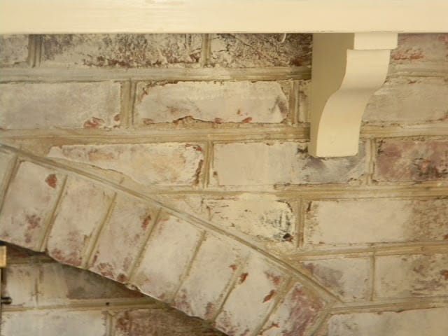 Whitewashed brick the painted drawer - How to make a brick fireplace look modern ...