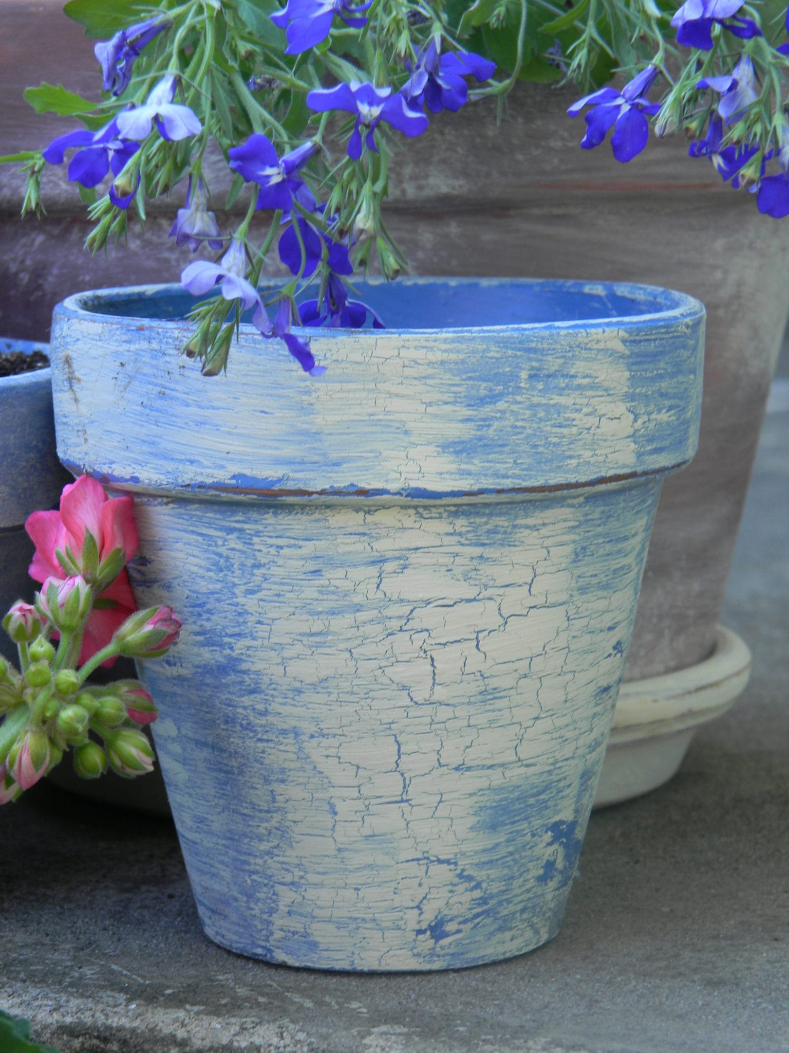 Creating Vintage, French Flower Pots - The Painted Drawer
