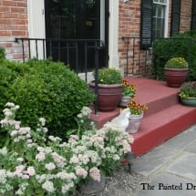 Painted Steps in Annie Sloan Primer Red