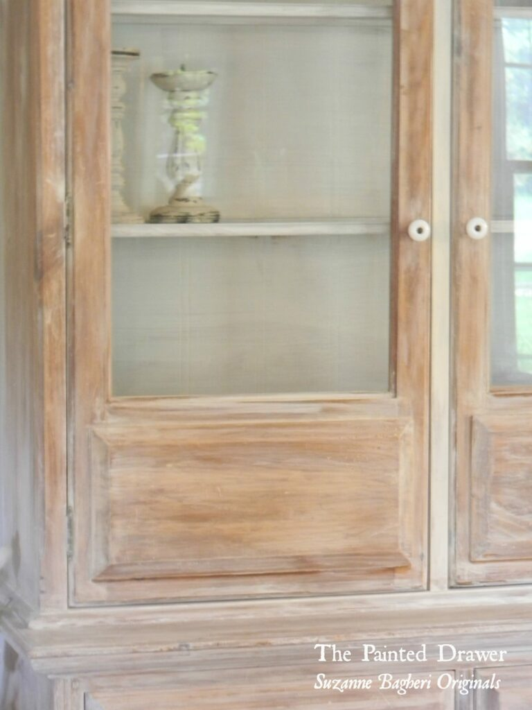 A Whitewashed Farmhouse Cabinet The Painted Drawer