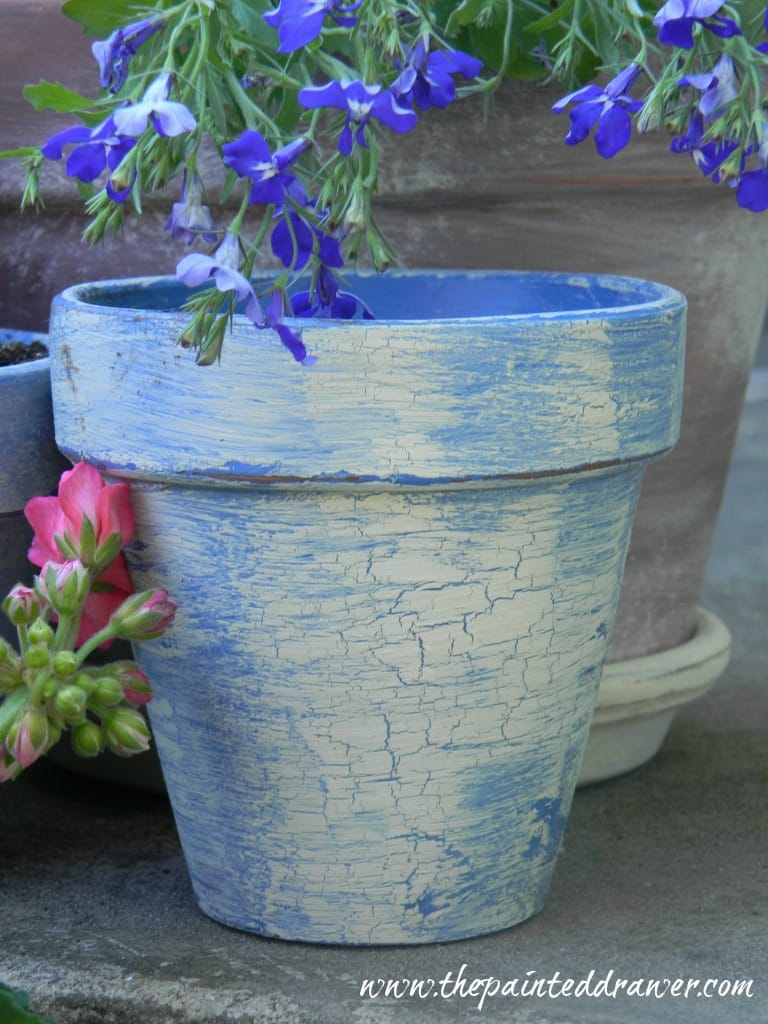 French Flower Pot www.thepainteddrawer.com