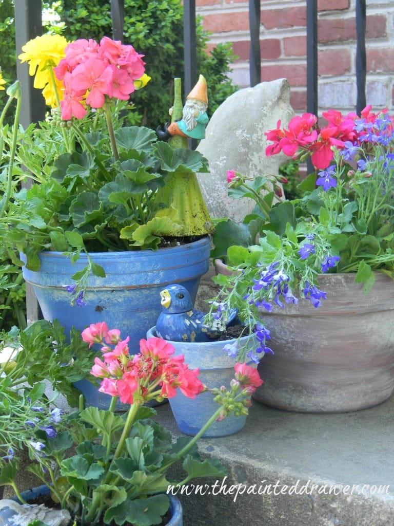 Flower Pots www.thepainteddrawer.com