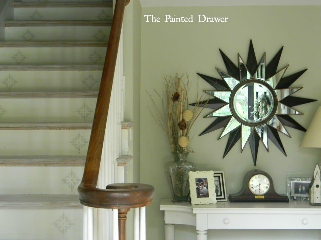 Whitewashed Stairs www.thepainteddrawer.com