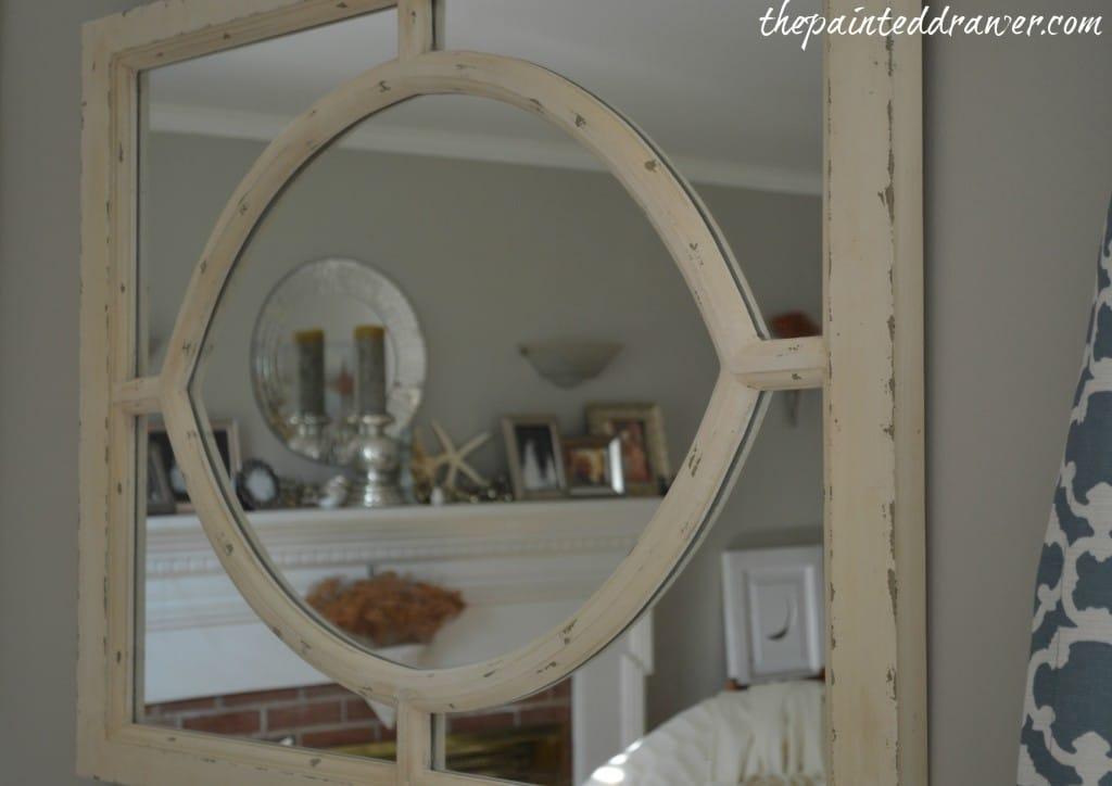 Pottery Barn mirror www.thepainteddrawer.com