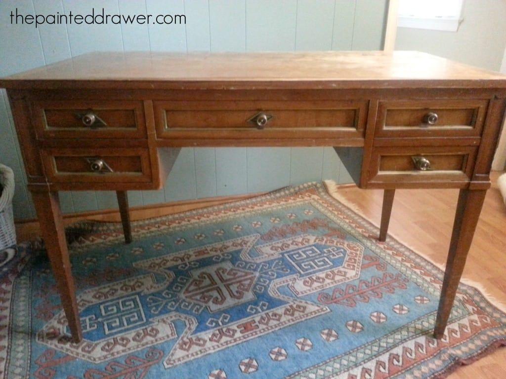 Vintage Desk www.thepainteddrawer.com
