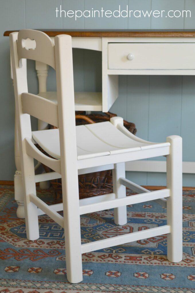 Vintage Plank Chair www.thepainteddrawer.com