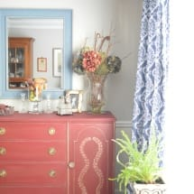 Annie Sloan Burgundy Sideboard