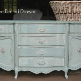French Vanity by www.thepainteddrawer.com