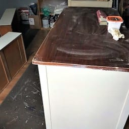 Farmhouse Dresser Update and Annie Sloan Old White
