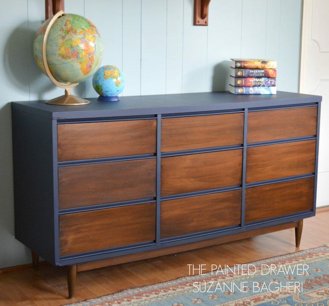 Mid Century Modern Furniture Bedroom Sets Paint Color Highlight General Finishes Coastal Blue