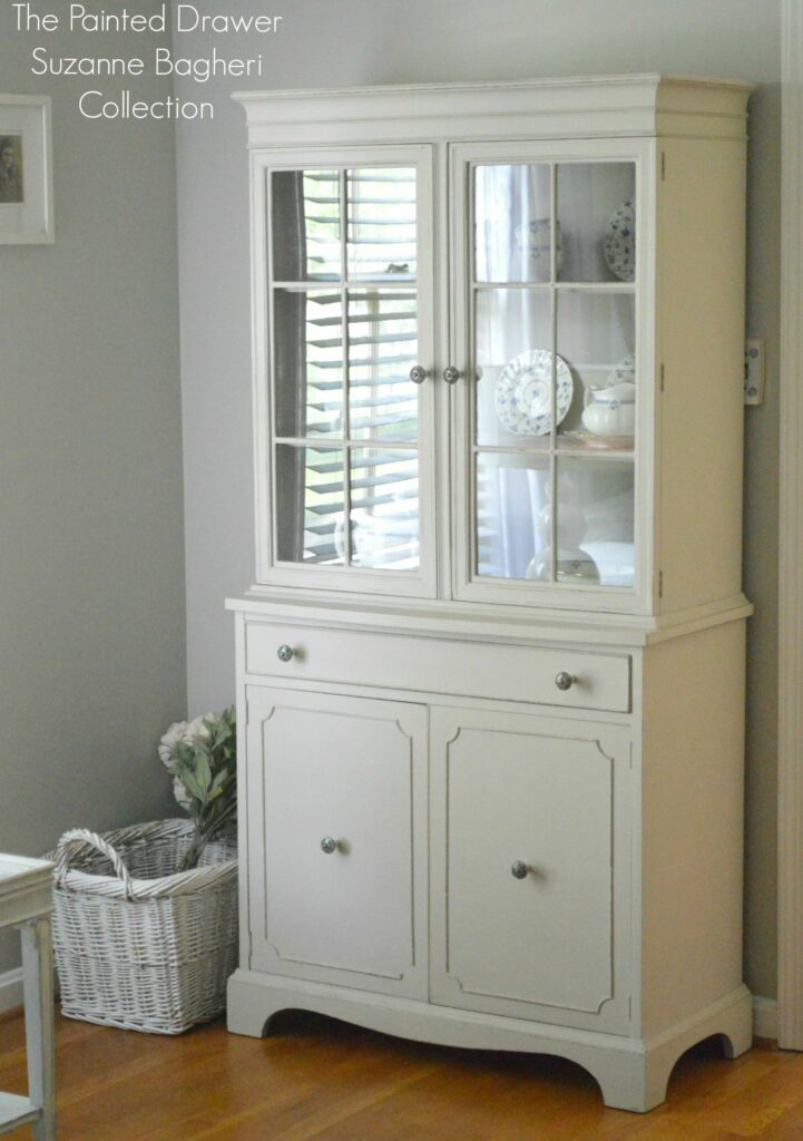 Annie Sloan Chalk Paint For Kitchen Cabinets The Farmhouse Cabinet In Greige And Persimmon Before And