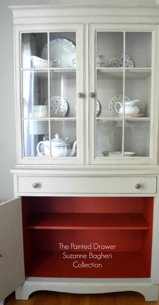 Greige Farmhouse Cabinet Interior
