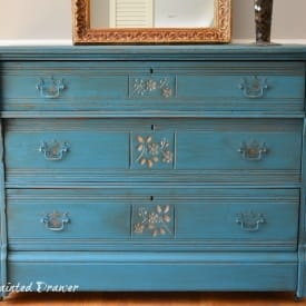Peacock Dresser in Corinth Blue with gold