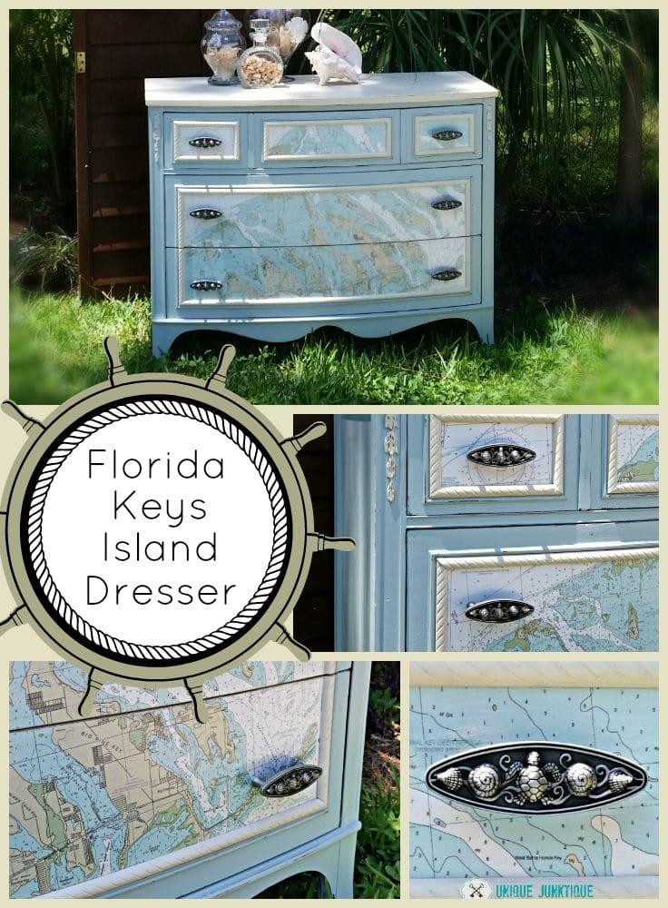 Unique Junktique Florida Keys Dresser