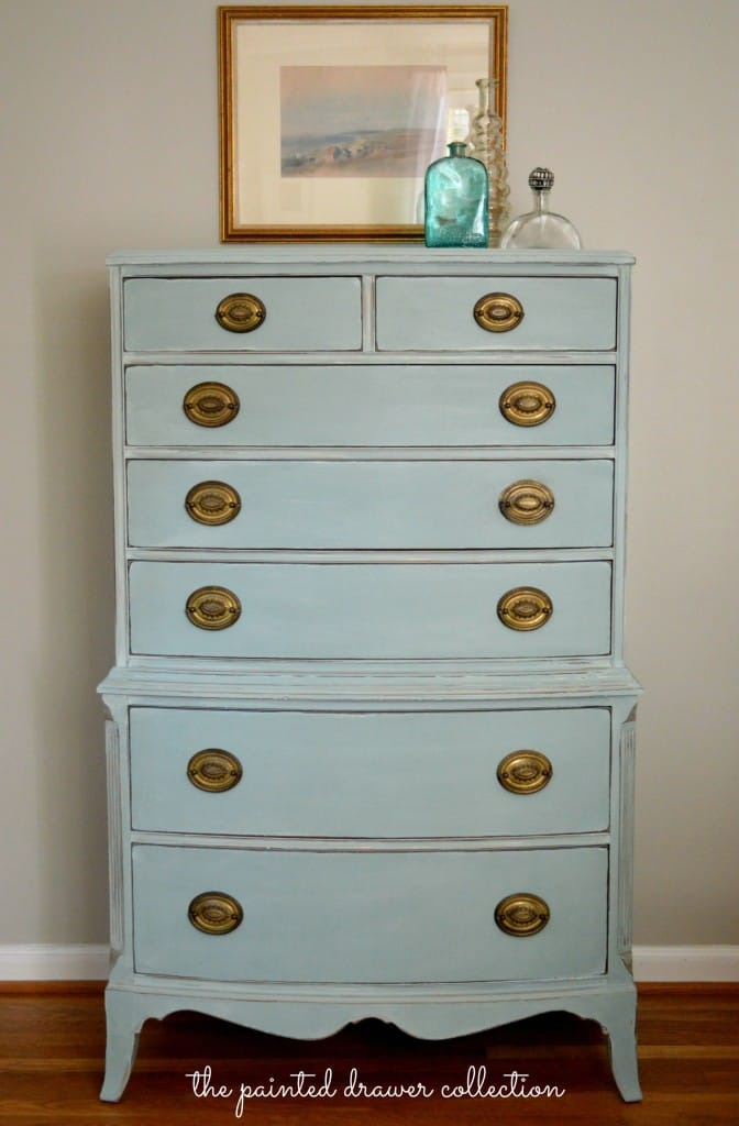 Vintage Dresser in Duck Egg Blue thepainteddrawer.com