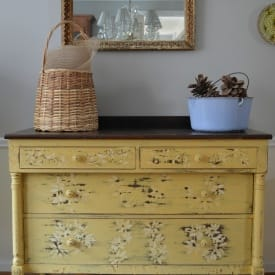 Farmhouse Mustard Chest