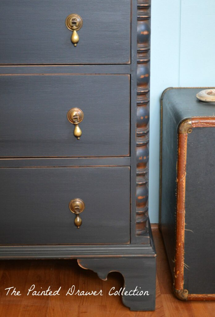 General Finishes Pepper Black Chalk Style Paint, Vintage Dresser, Painted Black, Painted Dresser