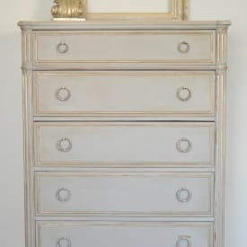 French Linen Chest of Drawers www.thepainteddrawer.com