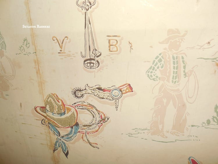 Carriage House Brooklyn vintage wallpaper cowboy and indians