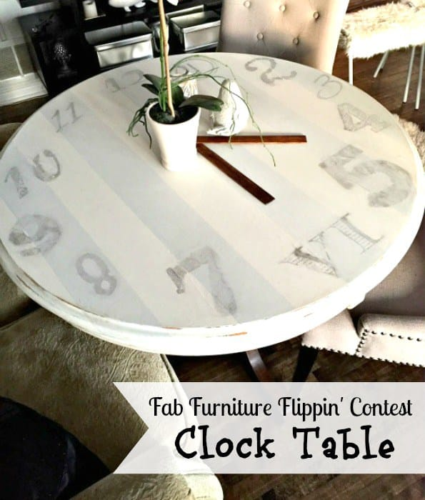 clock table makeover