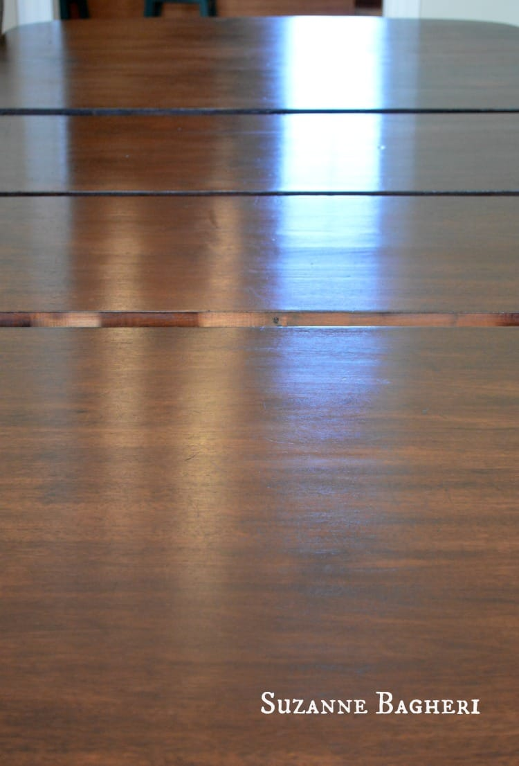 java gel stain refinished wood table, dining table top