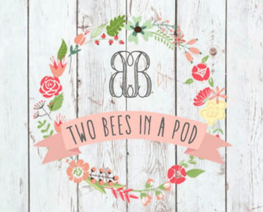 two bees in a pod