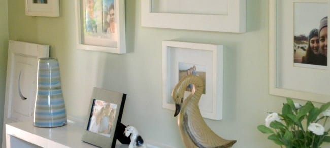Hallway Makeover with Frames