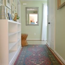 Hallway Makeover with Thrift Store Built-In Bookcases