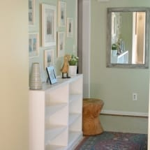 Hallway Thrift Store Bookcase Built-Ins 2