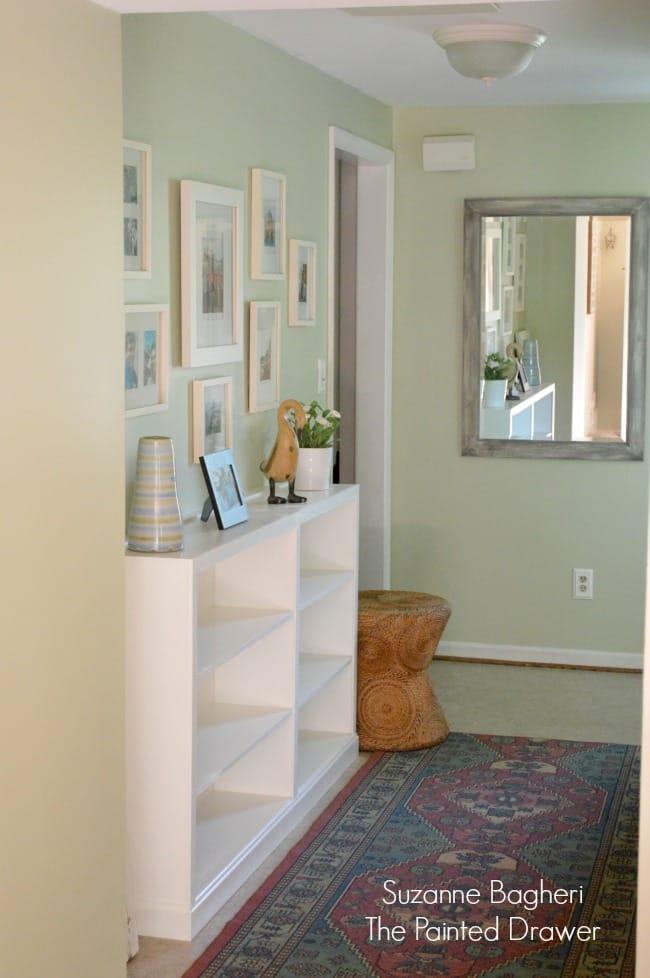 Hallway Thrift Store Bookcase Built-Ins 2