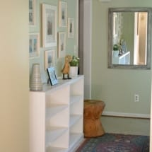 Hallway Thrift Store Bookcase Built-ins