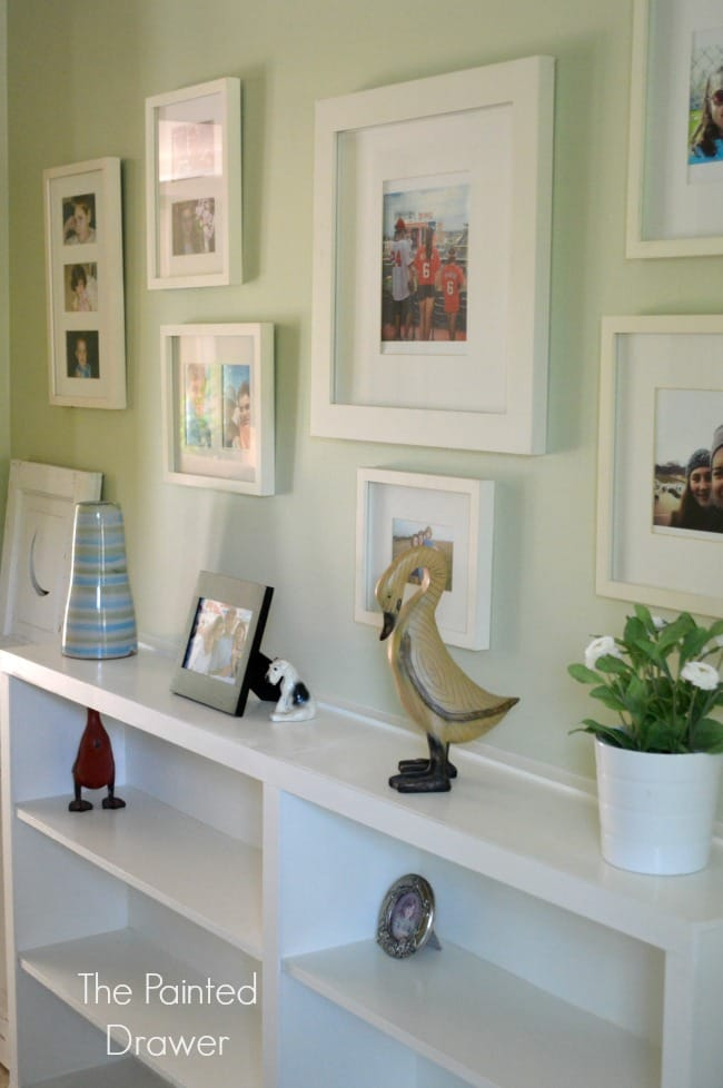 Hallway Thrift Store Built-Ins with Gallery Wall