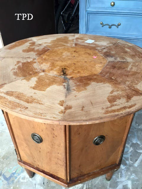 sand and restore a mid-century modern table