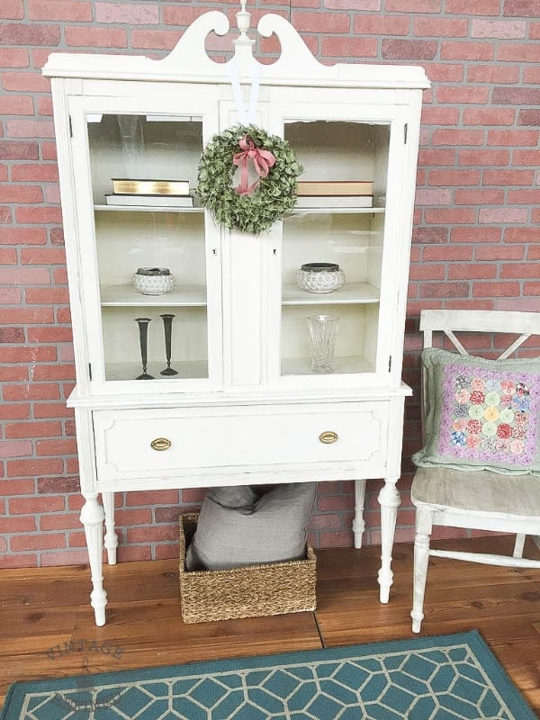 Old White Painted Cabinet