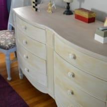 Ella's Room with Blush Dresser and Ikea Print