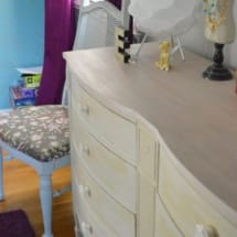 Ella's Room with Blush Dresser and Ikea Print