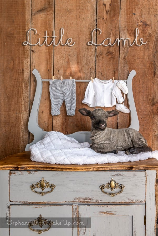 LIttle Lamb Dresser by Orphans with Makeup featured by The Painted Drawer