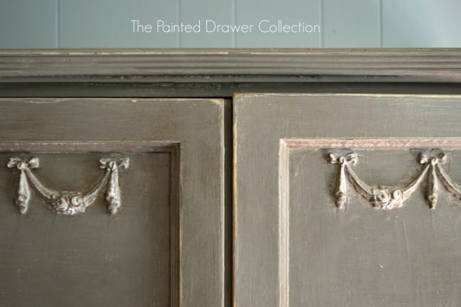 Lily's Armoire painted in French Linen and dark wax detail2