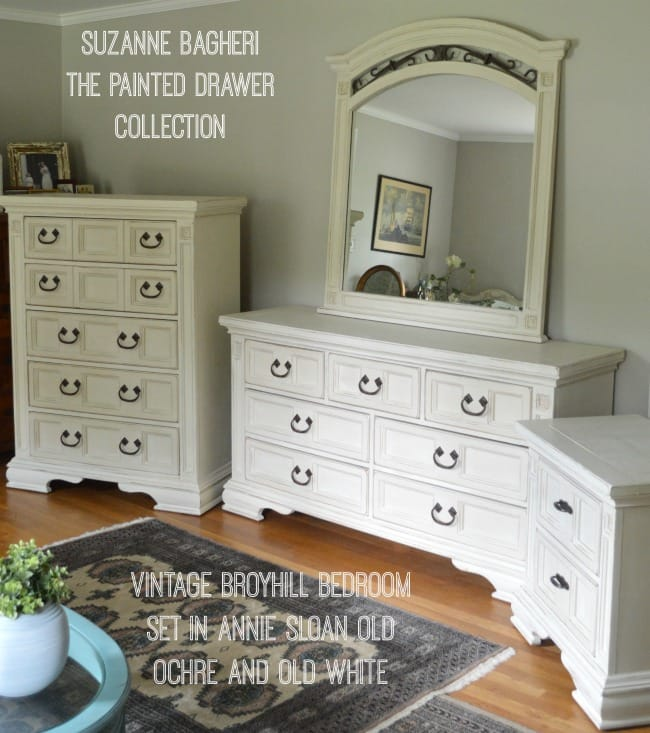 Broyhill Bedroom Set painted in Annie Sloan chalk paint