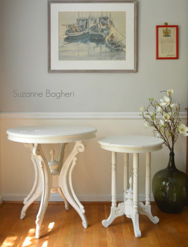 Creamy White Tables in Annie Sloan Old White