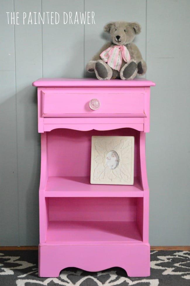 pring Azalea Benjamin Moore nightstand
