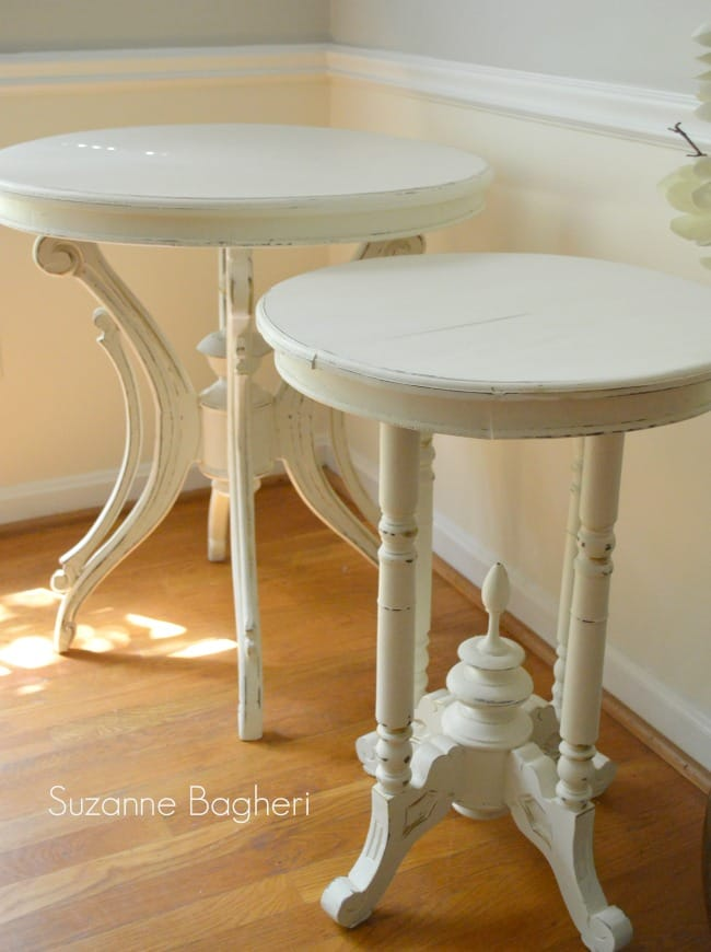 Creamy White Vintage Tables in Annie Sloan Old White