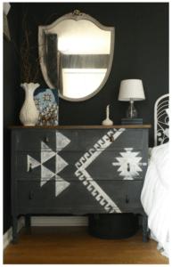 kilim inspired dresser