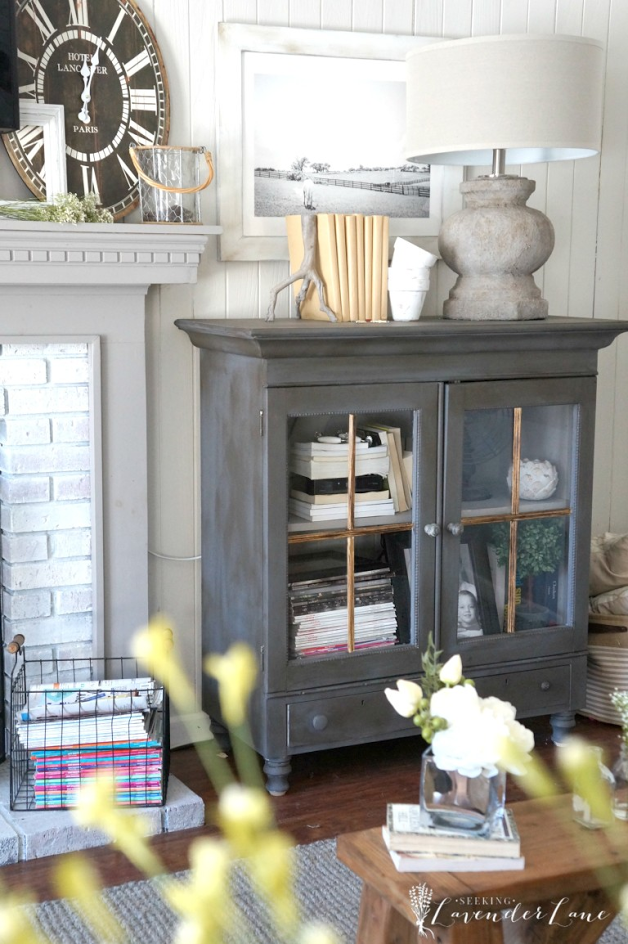 Farmhouse Cabinet Makeover by Seeking Lavender Lane