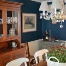 Dining Room in Sherwin Williams Rainstorm