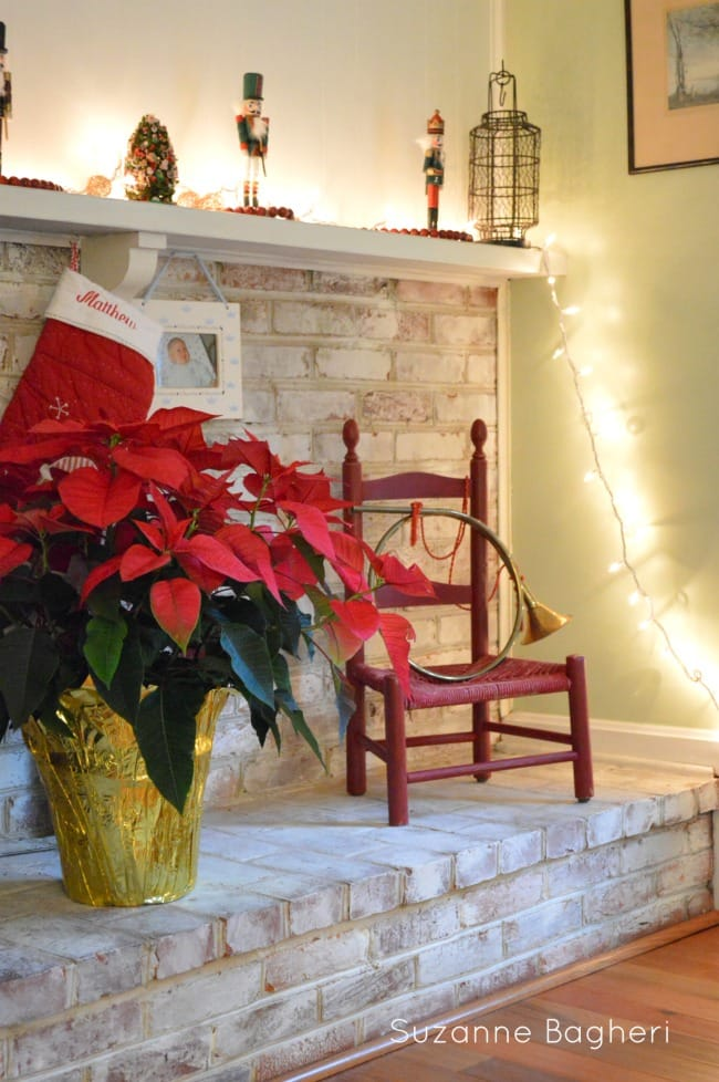 Vintage Red chair for Christmas