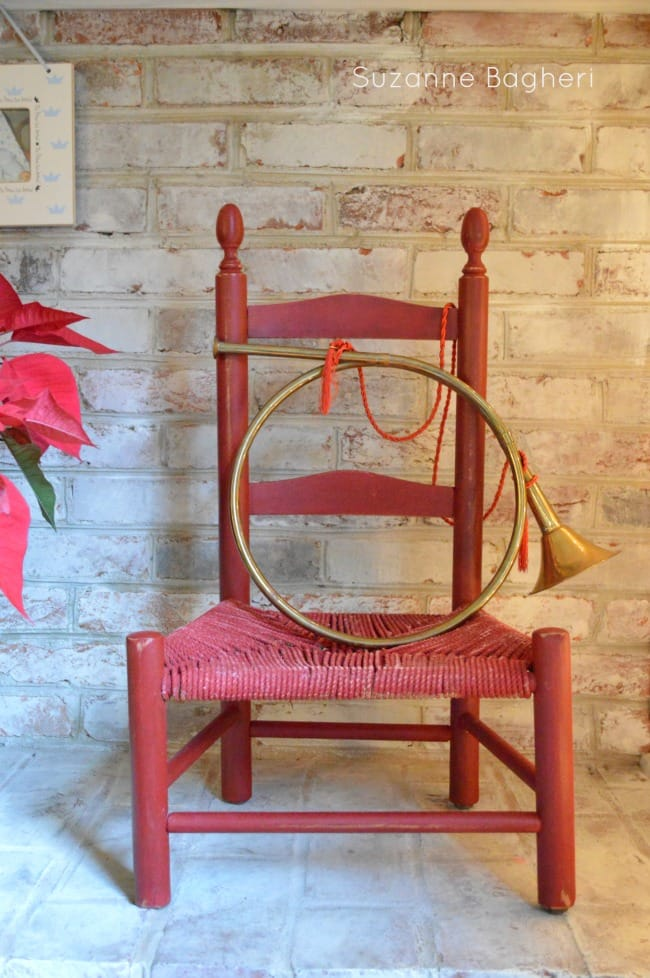 vintage chair for christmas