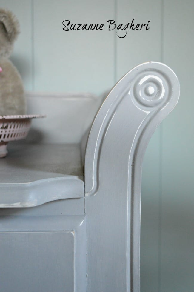 Changing Table in Annie Sloan Paris Grey