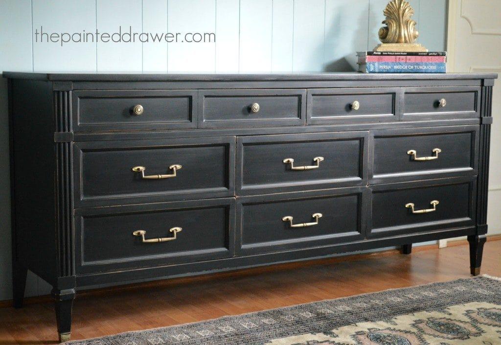Contemporary Black Dresser