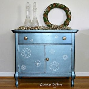 Winter Metallic Cabinet, Before and After